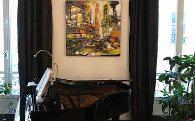 Salle de musique, condo Paris